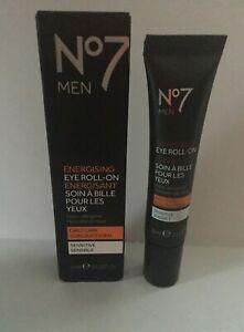 No7 Men Energising Eye Roll-On 0.5oz (15ml), Daily Care, Sensitive