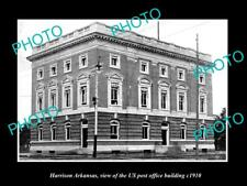 OLD LARGE HISTORIC PHOTO OF HARRISON ARKANSAS THE US POST OFFICE BUILDING c1910