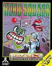 Robo-Squash Atari Lynx Video Game Cartridge and Manual Robosquash Robo Squash