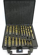 "230pc SAE / Imperial Titanium Coated Drill Bit Set For Metal 3/64"" - 1/2"" DR040"