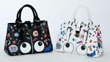 'Bags Have Attitude' Women's Handbag w Big Eyes Graffiti Print