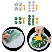 Non Slip Stone/Green Leaves Bathtub Stickers Adhesive Decals w/Scraper for Bath