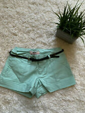 BE BOP MINT GREEN BELTED SHORTS STRETCH 1