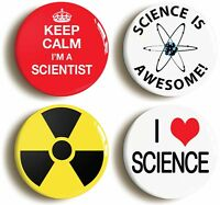 Trust Me I/'m A Scientist Pin Badge science physics mathematics BRAND NEW