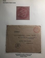1942 Sandringham England Official Royalty Front Cover To London Gr Cypher