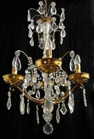 Antique french Jansen style chandelier Manufactured with polished bronzes