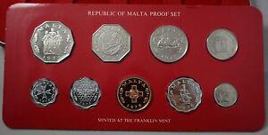 MALTA 9 Coins Proof Set 1976 KM PS2