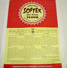 Vintage 10 lb Paper Flour Bag/Sack  Softex  Lexington Roller Mills, Inc. KY