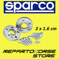 SPARCO HUBCENTRIC WHEEL SPACERS KIT - 2 x 16mm - WITH BOLTS - FIAT 500 ABARTH