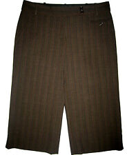 BCBG Max Azria Daria Bermuda Shorts sz 6 Mahogany brown pinstripe NEW $158