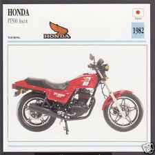 1982 Honda FT500 Ascot (458cc) Japan Bike Motorcycle Photo Spec Info Stat Card