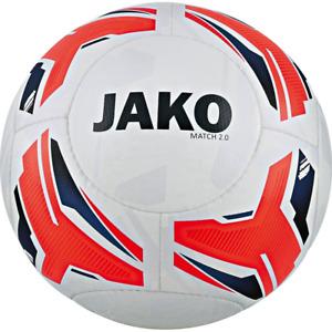 10 x Jako Trainingsball Match 2.0 weiss/flame/navy Gr.5 NEU Ballpaket Bälle