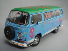 "SCHUCO 1:18 Volks Wagen T2a ""Die Ludolfs"" Light Blue/Green Top from Japan"
