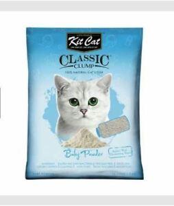 10L Kit Cat. Cat Litter Sand. KitCat - Baby Powder