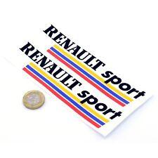 Renault Sport RS Stickers Car Vinyl Decals 150mm x2 Megane BLACK & WHITE BOX
