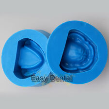2pcs Dental Plaster Model Mold of Edentulous Jaw Silicon Complete Cavity Block
