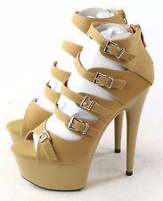 Ellie Shoes Womens 609-Una Boot Pump Heel Nude Size 6 M US