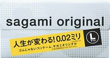 Condoms Sagami Original 002 Very Thin 0.02 mm L size from Japan 12 pcs 1 box F/S