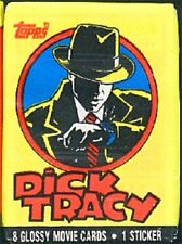 New listing Dick Tracy movie full pack including 8 movie photo cards, sticker Free Shipping