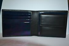Paul Smith Azul Metálico Interior Monedero Cartera Nuevo