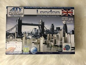 4D CITYSCAPE TIME JIGSAW PUZZLE LONDON  England 1230+ PIECES GLOW Dark Gift NEW