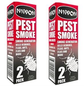 4 PACK NIPPON PEST SMOKE FUMIGATOR BOMB KILLS BED BUGS FLEAS ANTS FLIES VTX5NPS1