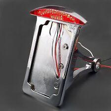 Custom LED SIDE Axle LICENSE PLATE BRACKET TAIL LIGHT CB750 XS650 Chopper CAFE