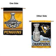 f4e1de203 NHL Pittsburgh Penguins 2 Sided Vertical Flag 28 X 40