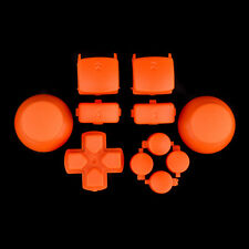 For PS3 Controller Solid Orange Match Thumbstick Dpad Triggers Buttons Part Kit