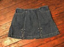Esprit Denim Mini Skirt 90's Fashion Mini Aline Skirt Sz 9 Street Style Vintage