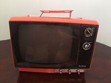 Bradford Television Vintage Portable TV Orange Model 9694 1977 Made In Japan