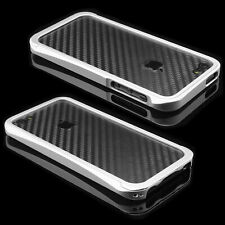 Apple iPhone 5 5s Schutz Set Aluminium Case Tasche Bumper Schale Alu silber