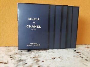 Chanel Blue de Chanel Parfum Sample Spray - 1.5ml/0.05oz lot of 6