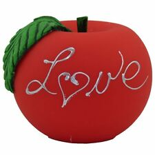 Apfelkerze Love matt Handarbeit Ø 10 cm phenolrot Valentinstag Liebe Kugelkerze