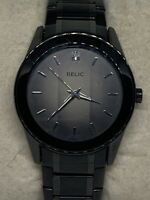 Relic ZR77271 Men's Black Stainless Steel Analog Dial Quartz Wrist Watch  Ee217