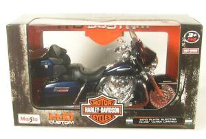 Harley Davidson FLHTK Electra Glide Ultra Limited (Blue) 2013 1:12 MAISTO