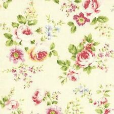 Cottage Shabby Chic Lecien Rococo Sweet Med. Roses Cream Fabric 31053L-10 BTY