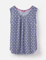 Joules Alyse Woven Top Navy Geo Size 10, 12, 14