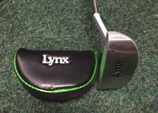 Lynx P-03 34 inch Right Hand Putter With Green Insert + Matching Head Cover B/N