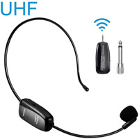 Wireless Microphone Headset UHF Wireless Mic Headset and Handheld 2 in 1