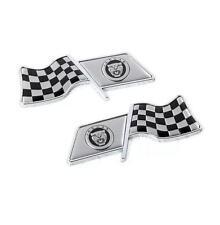2Pcs F1 Flag Car Auto Styling Decor Decal Badge Emblem Logo Fit for Jaguar