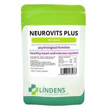 Lindens Neurovits Tablets - Vitamin B-12 500mcg B-6 & Folic Acid B12 B6 B1