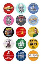 """BIG BANG THEORY SHEET A 15 BOTTLE CAP IMAGES  1"""" CIRCLES *****FREE SHIPPING*****"""
