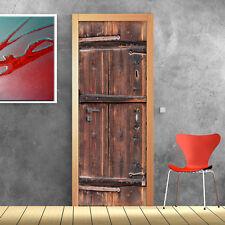 PT0180 Wall Stickers Adesivi Murali Adesivo Portone decoro antico 100X210cm