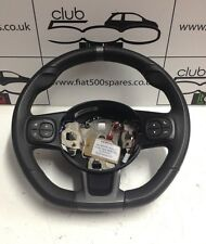 Fiat 500 sport flat bottom steering wheel from a facelift model 2015 onward