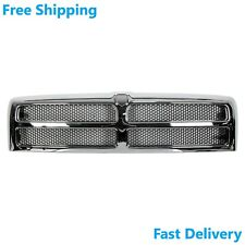 Grille Chrome Frame W/ Silver Mesh Fits Dodge Ram 1500 2500 3500 94-02 CH1200178