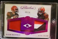 2018 Flawless Dual Diamond Patch Ruby RC Baker Mayfield/Nick Chubb 9/10 Browns