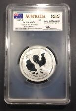 2017 2 oz Silver Australia Rooster $2 PCGS MS-70, Buy 3 Items, Get $5 Off!!