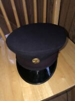 Rare Vintage New York City Fire Department Dress Blue Hat With Badge. 1962