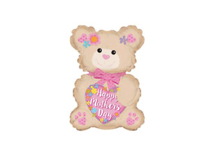 """Mother's Day Bear 12"""" Mini Air Fill Foil Balloon - Pack of 2"""